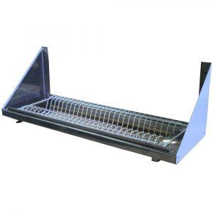 Полка настенная кухонная для сушки посуды ПНП-900т с поддоном