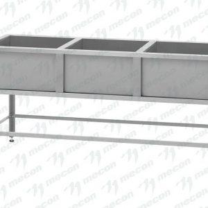 Ванна моечная трехсекционная ВМ-3-5/5 сварная 500×500