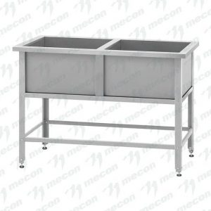 Ванна моечная двухсекционная ВМ-2-60/60 сварная 600×600
