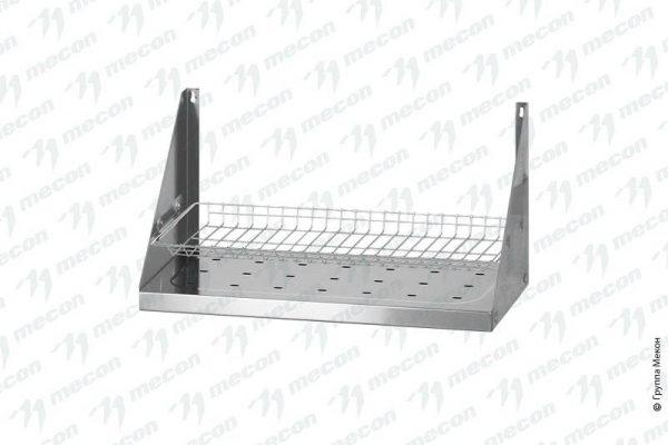 """Полка для сушки посуды ПСПн – 900*300*300 """"Norma Inox"""", нерж. сталь, сетка """"тарелки"""""""